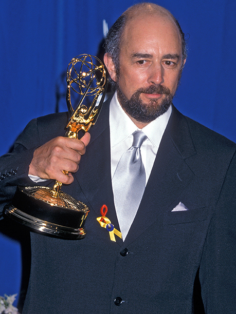 Richard Schiff with his Outstanding Supporting Actor in a Drama Series Emmy for The West Wing