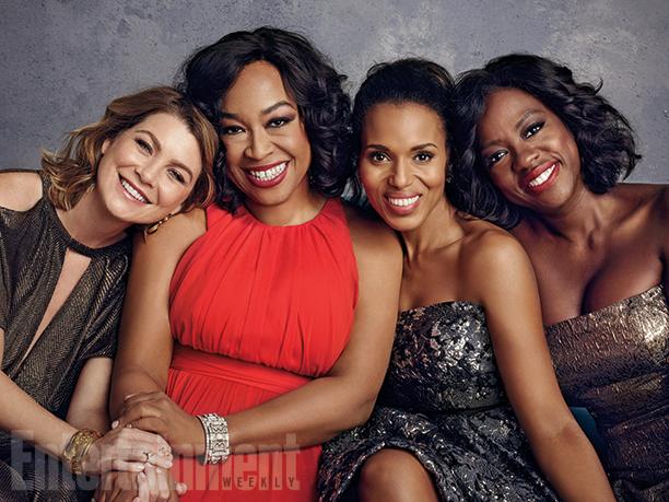 Ellen Pompeo, Shonda Rhimes, Kerry Washington, and Viola Davis
