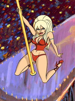Stripperella | Stripperella To paraphrase Jessica Rabbit: She's not bad, she's just drawn that way. Actually, Stan Lee's animated creation is pretty darn good , fighting sleazeball…