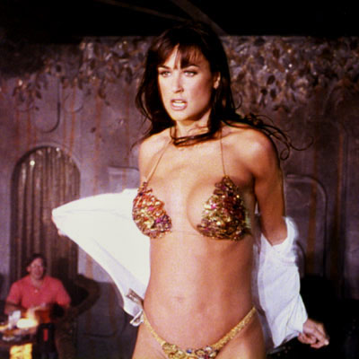 Demi Moore, Striptease | In which Moore was paid a then-record $12.5 million to go topless. Okay, she also did some ''acting'' in this dreadful flashdancer-with-a-heart-of-gold saga. But nothing…