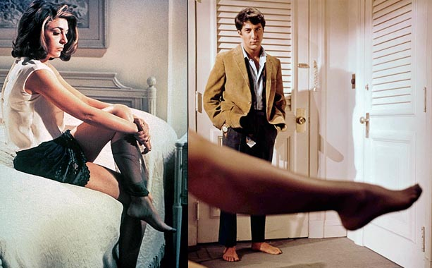 """Anne Bancroft, The Graduate   """"Mrs. Robinson, you're trying to seduce me,"""" Dustin Hoffman's Benjamin Braddock uttered nervously as the original cougar peeled off her silk stockings in this 1967…"""