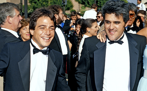 Tony Danza and Jay Leno were formal friends at the 38th Emmy Awards