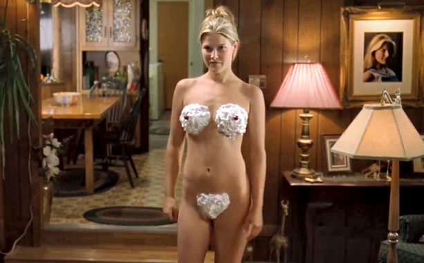 Ali Larter, Varsity Blues   Ok, technically it's not lingerie, but we have to give Larter credit for wearing this whipped cream bikini. It's a task that's not for the…