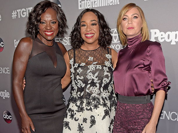 Viola Davis, Shonda Rhimes, and Ellen Pompeo at the EW, PEOPLE and Essence Shondaland party, presented by Toyota
