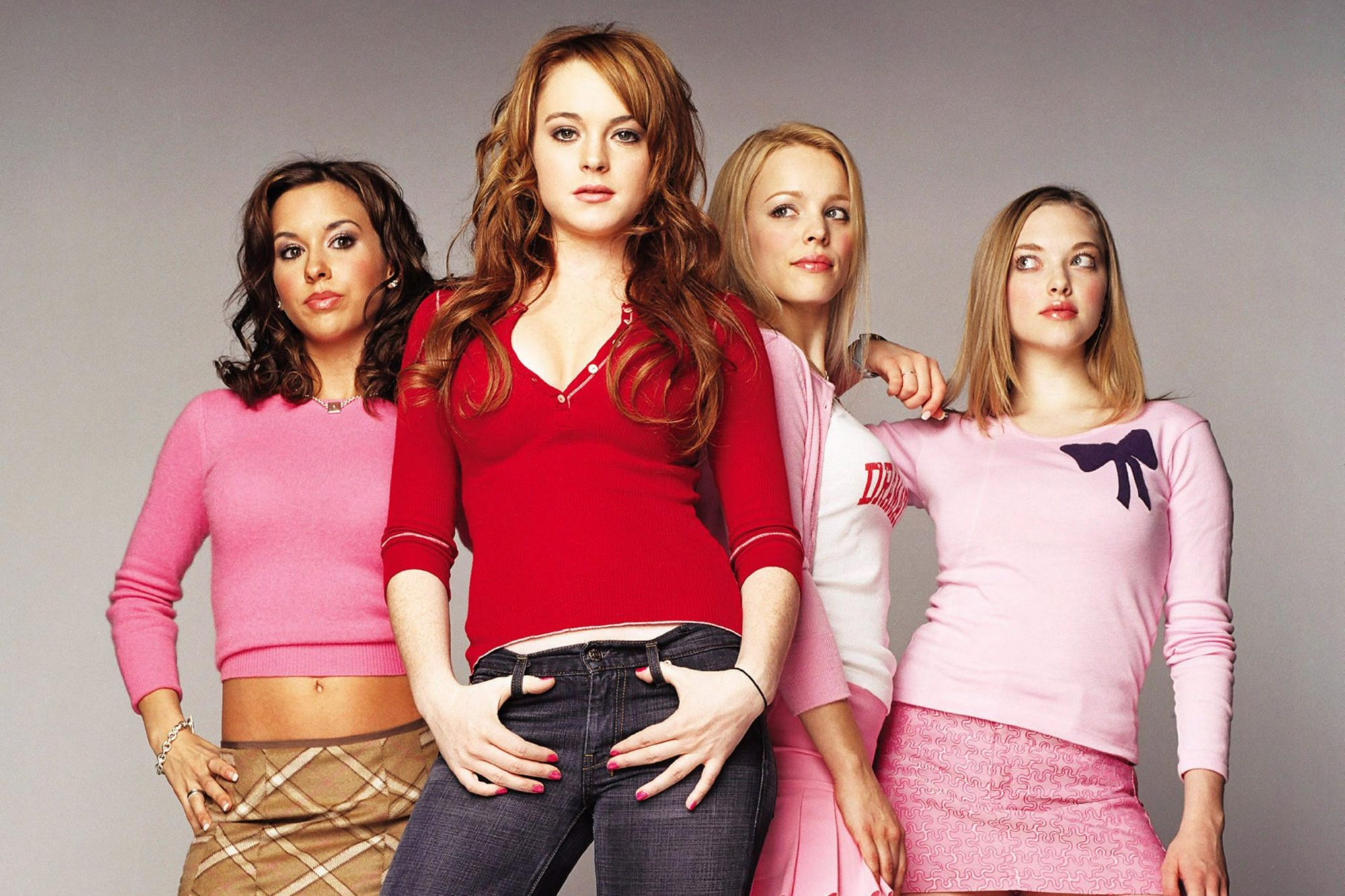 MEAN GIRLS, from left: Lacey Chabert, Lindsay Lohan, Rachel McAdams, Amanda Seyfried, 2004. u00A9Paramou