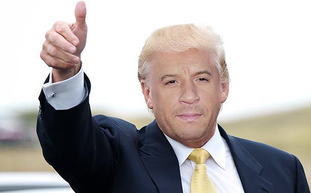 Vin Diesel as Donald Trump
