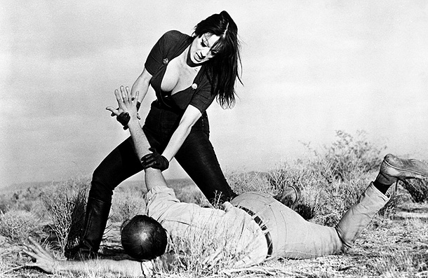 Tura Satana, Faster, Pussycat! Kill! Kill! | A cuckoo-bananas action movie about homicidal go-go dancers, much of the appeal of Pussycat is derived from Satana's oddly endearing miles-over-the-top performance. You get the…