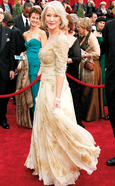 Helen Mirren in Christian Lacroix, 2007 Academy Awards