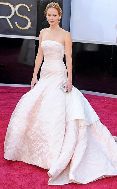 Jennifer Lawrence in Dior Couture, 2013 Academy Awards