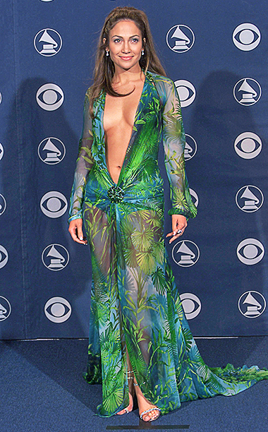 Jennifer Lopez in Versace, 2000 Grammy Awards