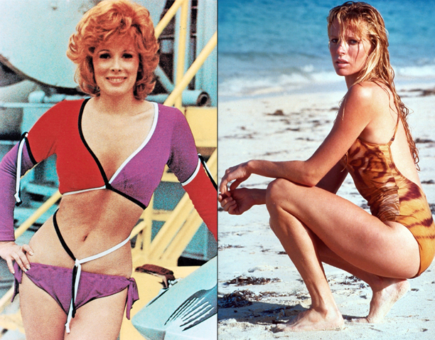 Jill St. John in Diamonds Are Forever (1971) and Kim Basinger in Never Say Never Again (1983)
