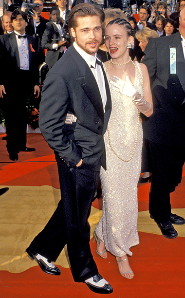 Juliette Lewis in vintage with Brad Pitt, 1992 Academy Awards