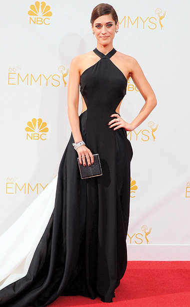 Lizzy Caplan in Donna Karan Atelier, 2014 Emmy Awards