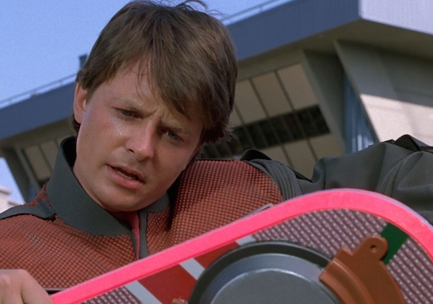 Marty McFly with Hoverboard