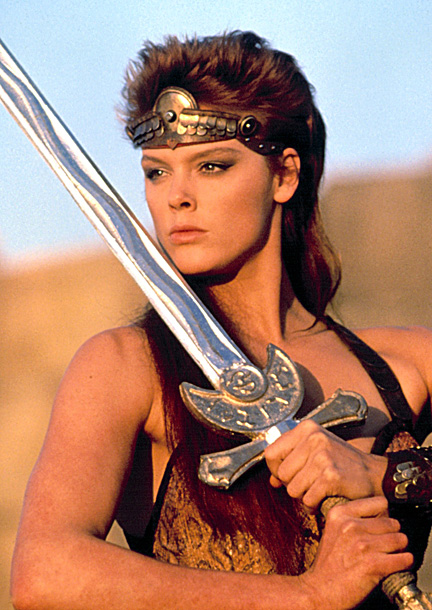 Brigitte Nielsen, Red Sonja | Long before the ignominy that was Strange Love , Brigitte Nielsen was basically the female answer to Dolph Lundgren: Tall, Scandinavian, with a frozen facial…