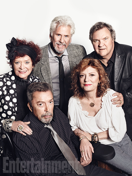 Patricia Quinn, Barry Bostwick, Meat Loaf, Susan Sarandon, and Tim Curry (The Rocky Horror Picture Show)