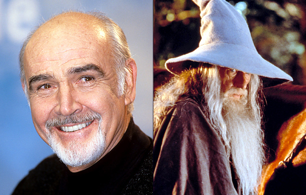 Sean Connery – Gandalf (Ian McKellen) in The Lord of the Rings