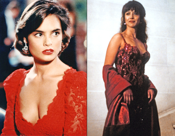 Talisa Soto in License to Kill (1989) and Sophie Marceau in The World is Not Enough (1999)