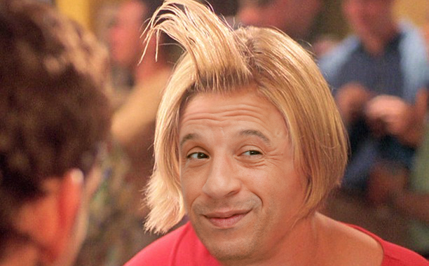 Vin Diesel as Cameron Diaz's Mary From There's Something About Mary