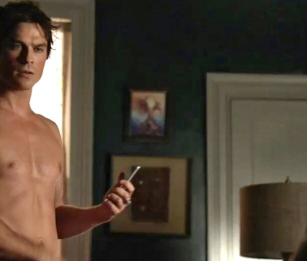 Vampire Diaries Ian Somerhalder Naked In New Season 7 Trailer Ew Com