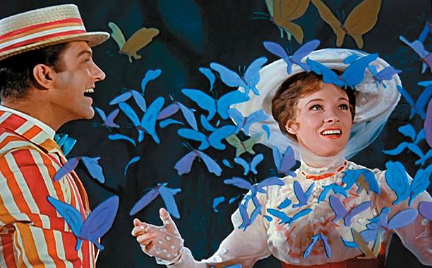 Mary Poppins (1964) G, 139 mins., directed by Robert Stevenson, starring Julie Andrews, Dick Van Dyke, David Tomlinson