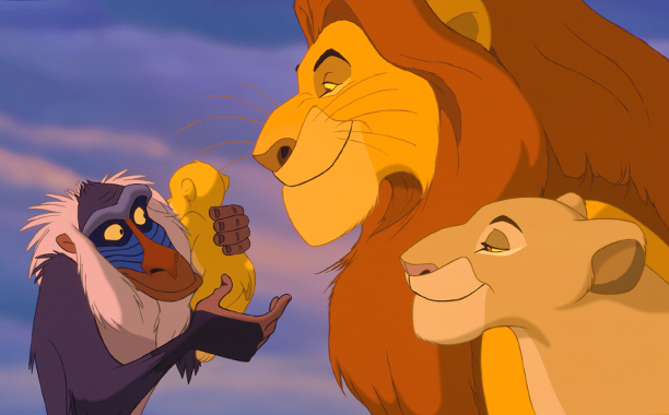 The Lion King (1994) G, 88 mins., directed by Roger Allers and Rob Minkoff, starring the voices of Jonathan Taylor Thomas, Matthew Broderick, James Earl Jones, Jeremy Irons