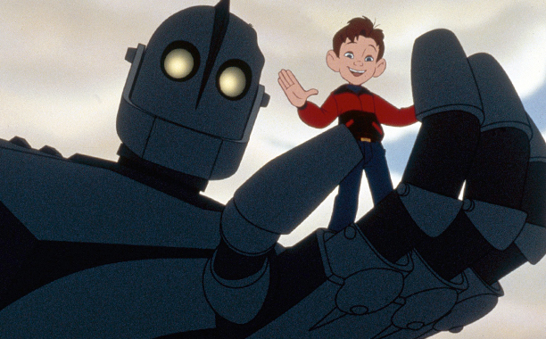 The Iron Giant (1999) PG, 86 mins., directed by Brad Bird, starring the voices of Eli Marienthal, Jennifer Aniston, Harry Connick, Jr., Vin Diesel