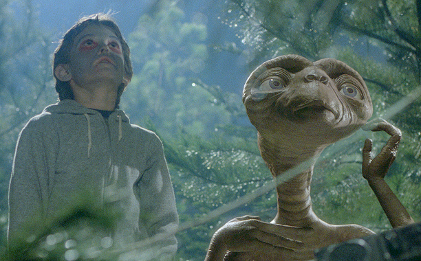 E.T.: The Extra-Terrestrial (1982) PG, 115 mins., directed by Steven Spielberg, starring Henry Thomas, Drew Barrymore, Peter Coyote