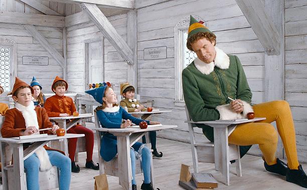Elf (2003) PG, 97 mins., directed by Jon Favreau, starring Will Ferrell, James Caan, Zooey Deschanel