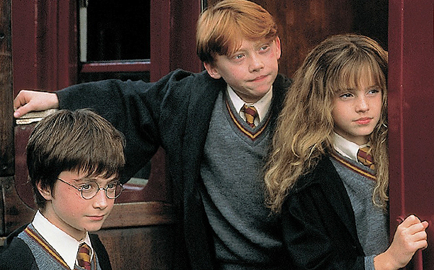 Harry Potter and the Sorcerer's Stone (2001) PG, 152 mins., directed by Chris Columbus, starring Daniel Radcliffe, Emma Watson, Rupert Grint