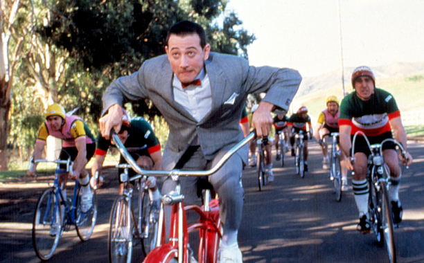 Pee-Wee's Big Adventure (1985) PG, 90 mins., directed by Tim Burton, starring Paul Reubens, Elizabeth Daily