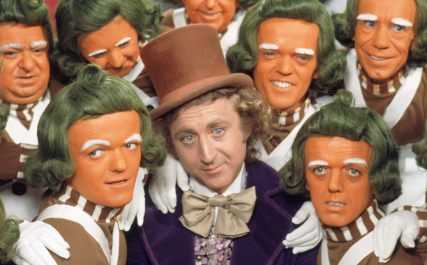 Willy Wonka and the Chocolate Factory (1971) G, 89 mins., directed by Mel Stuart, starring Gene Wilder, Jack Albertson, Peter Ostrum