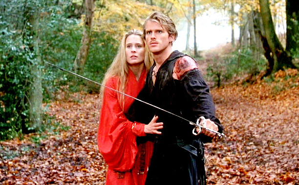 The Princess Bride (1987) PG, 98 mins., directed by Rob Reiner, starring Cary Elwes, Robin Wright, Mandy Patinkin, Billy Crystal