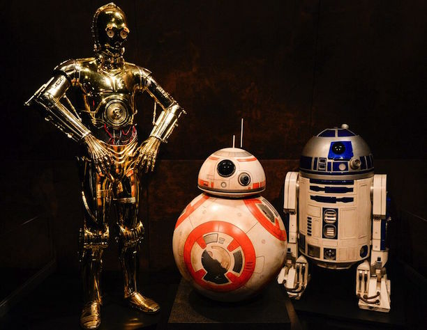 Droid Design: C-3PO, The Empire Strikes Back; R2-D2, Classic Trilogy; BB-8, The Force Awakens