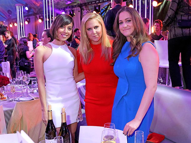 Aubrey Plaza, Amy Schumer, and Kimberly Schumer