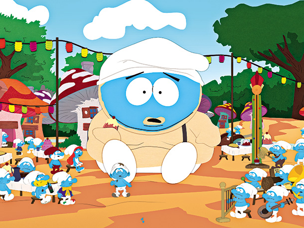 South Park | Season 13, episode 13 In an episode that satirized both Glenn Beck-style demagoguery and James Cameron's Avatar , Cartman is named the elementary school announcer…