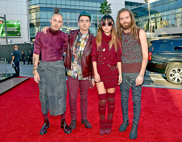 Cole Whittle, Joe Jonas, JinJoo Lee, and Jack Lawless of DNCE