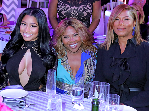 Nicki Minaj, Mona Scott-Young, and Queen Latifah