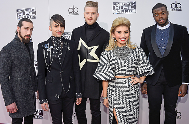Avi Kaplan, Mitch Grassi, Scott Hoying, Kirstin Maldonado, and Kevin Olusola of Pentatonix
