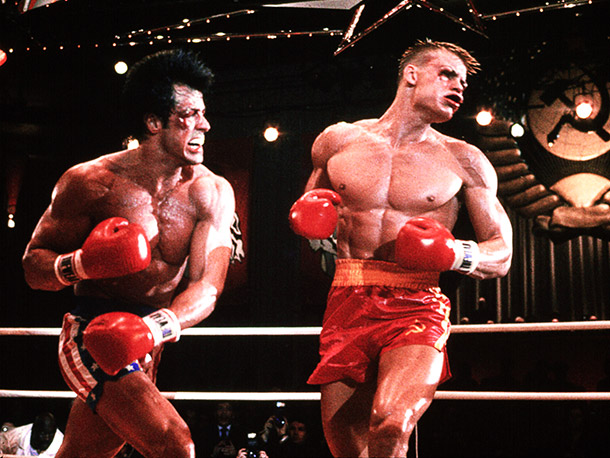 Rocky IV, Dolph Lundgren | The original Rocky was a scrappy tale of a lower-class hero; it practically plays like an indie movie now. Rocky IV is the story of…