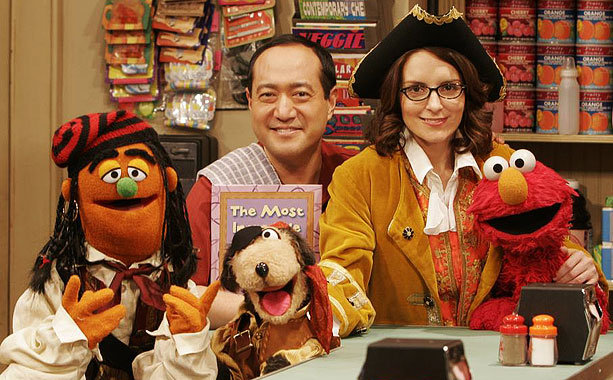Tina Fey, Sesame Street | TINA FEY Ahoy there, Liz Lemon! The 30 Rock star made a big impression as a singing, thieving ''bookaneer,'' one of the pirates of the…