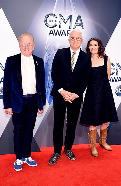 Peter Asher, Steve Martin, and Edie Brickell