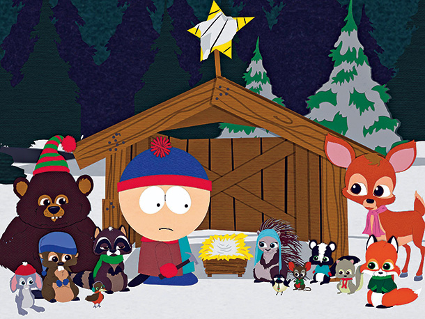 South Park   Season 8, episode 14 Stan helps a band of cute talking animals that turn out to be Satan worshippers. (''Blood orgy, yay!'') Parker: The fact…