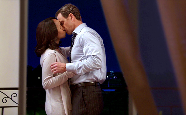 Olivia and Fitz Kiss, Scandal