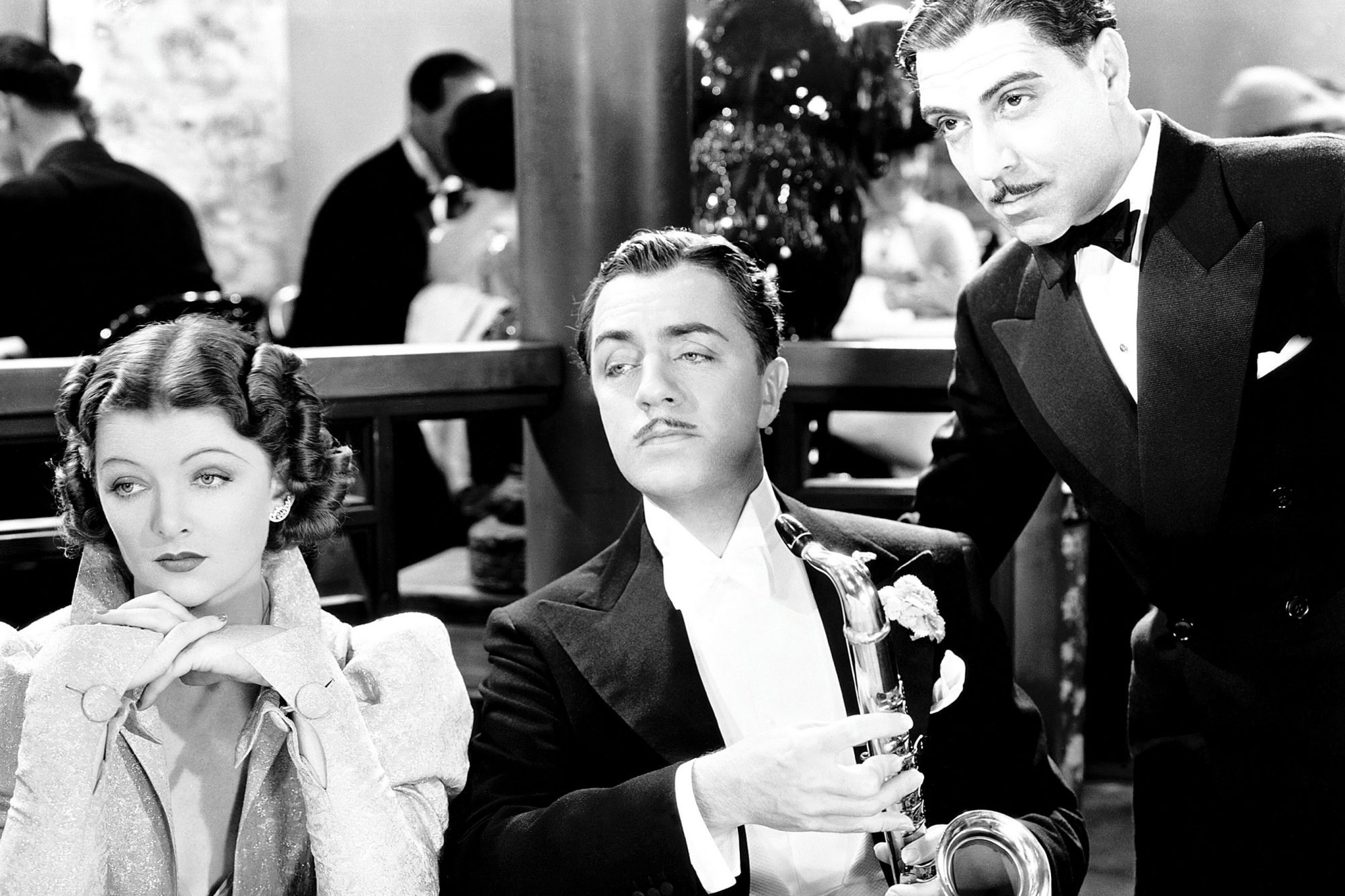 AFTER THE THIN MAN, Myrna Loy, William Powell, Joseph Calleia, 1936