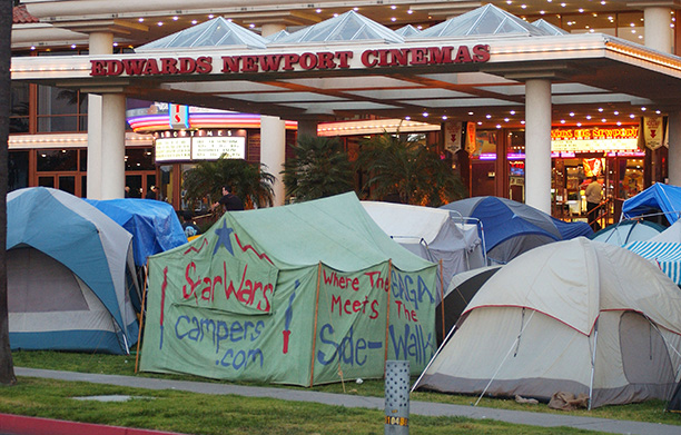 May 16, 2002: Fans camp out for Attack of the Clones outside of Newport Beach's Edwards Newport Cinema