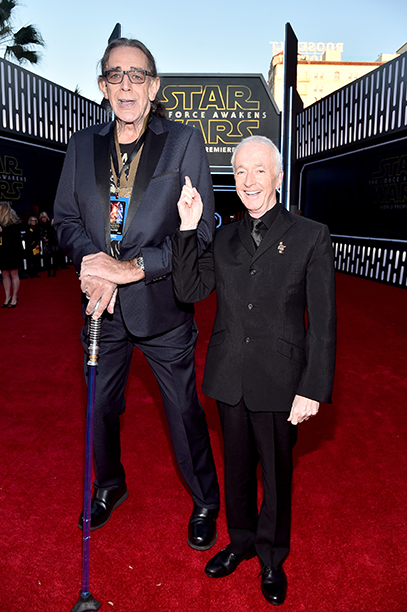 Peter Mayhew and Anthony Daniels