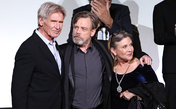 Harrison Ford, Mark Hamill and Carrie Fisher
