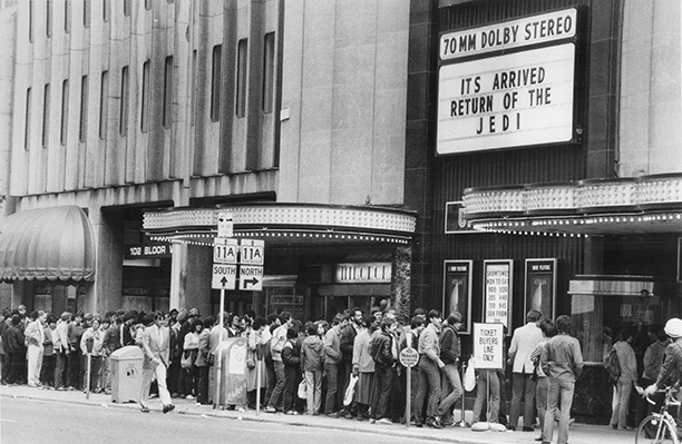 May 25, 1983: Fans numbering in the hundreds line up outside of Toronto's University Theatre for Return of the Jedi