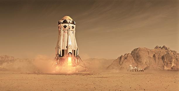8. Matt Damon Lifts Off in The Martian